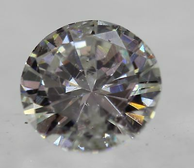 Certified 0.52 Carat F SI1 Round Brilliant Enhanced Natural Diamond 5.37mm 3VG
