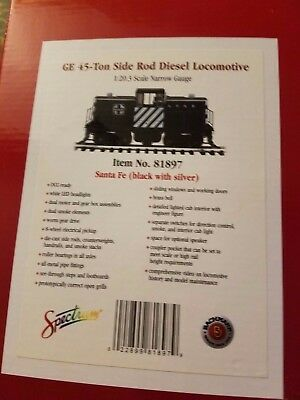Bachmann 81897 Ge 45-Ton Side Rod Diesel Locomotive Narrow Gauge