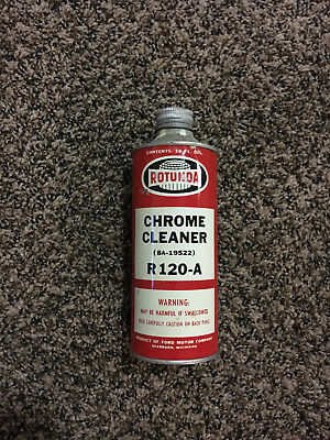 Vintage rare Ford Rotunda Chrome cleaner, Mustang Galaxie Mercury cylcone 1960's
