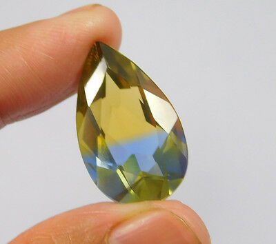 16 Cts. Treated Faceted Pear Shape Ametrine Cut Loose Cab Gemstone NG2029