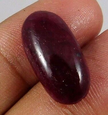 13.60 Cts. NATURAL DYED RUBY LOOSE CAB GEMSTONE (AQ931)