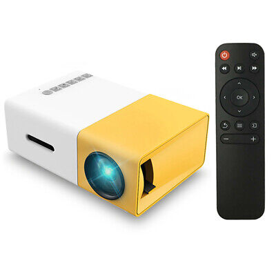 Mini Pocket HD 1080p Portable Projector Home Cinema 3D LED AV TV VGA USB SD S7P0