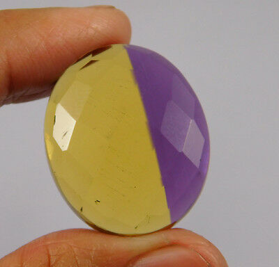 35 Cts. Treated Faceted Ametrine Cut Loose Cabochon Gemstone (NH996)
