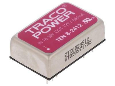 TEN8-2412 Converter DC/DC 8W Uin18÷36V 12VDC Iout665mA DIP24 17g TRACO POWER