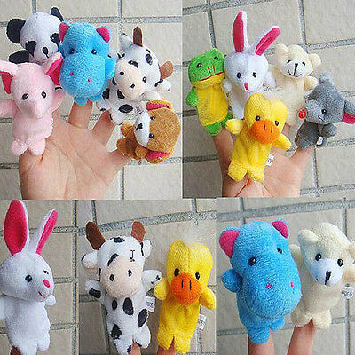 10pcs Animal Finger Puppet Plush Child Baby Early Education Toys Gift UK