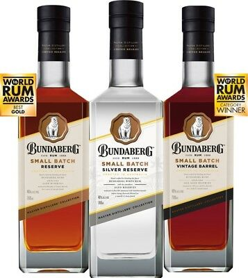 Bundaberg Rum Small Batch Set, Silver, Small Batch, Vintage Barrel New Release