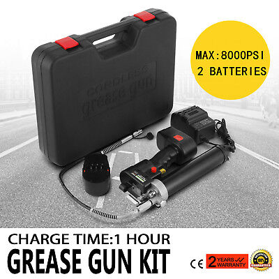 18V Volt Battery Electric Grease Gun Cordless Rechargeable Industrial 8000Psi