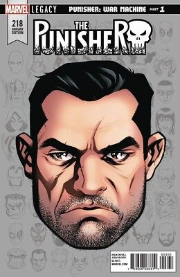 PUNISHER 218 MIKE McKONE HEADSHOT VARIANT MARVEL LEGACY TIE IN NM