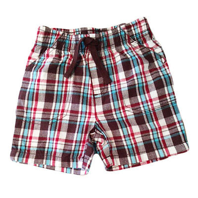 Baby Boy Yarn-Dyed Plaid Shorts Infant Boy Short 12 months