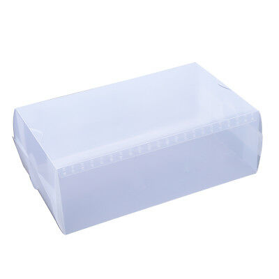 5 x Clear Plastic Mens Shoe Storage Boxes Containers Size 8 9 10 11 WS B4O2 D4O7