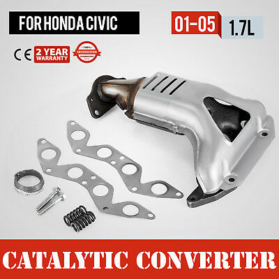 Exhaust Manifold w/ Catalytic Converter for 01-05 Honda Civic 1.7L L4 SOHC NEW