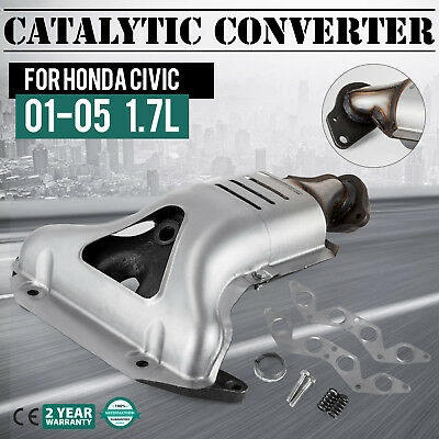 Exhaust Catalytic Converter for Honda Civic 2001-2005 1700cc Stainless Coupe