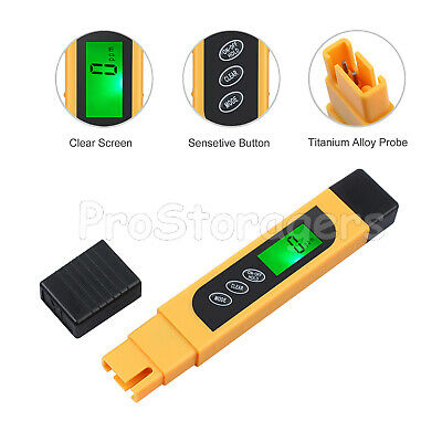 3 IN 1 Digital Water Quality Tester TDS EC Purity PPM Tester Meter Temperature