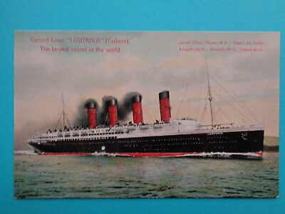 S.s. Lusitania Early Postcard  Mint Cond Un Posted