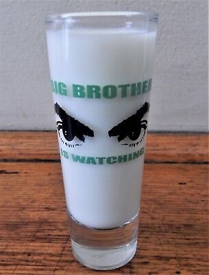 TALL SHOT GLASS Dreamworld Home of >>>> Big Brother Is Watching (10 x 4 cm)