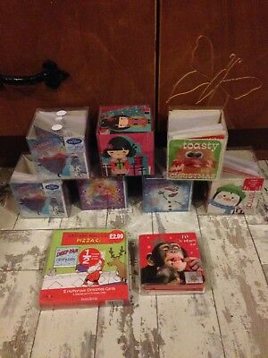 9 Boxes Of Christmas Cards New