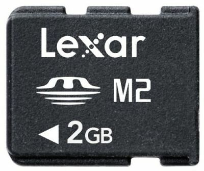 Lexar 2GB 2G MEMORY STICK MICRO M2 Card For Sony Ericsson Phones SONY Camera PSP
