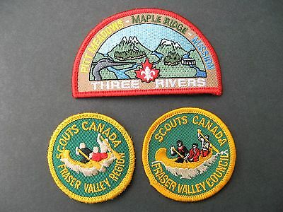 Boy Scouts Canada  3 Maple Ridge Pitt Meadows Mission B.c.fraser Valley Patches