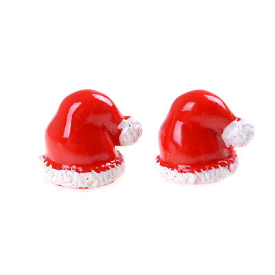 2Pcs Miniature Christmas Dollhouse Hat Home Garden Mini Craft Decor Gift GD