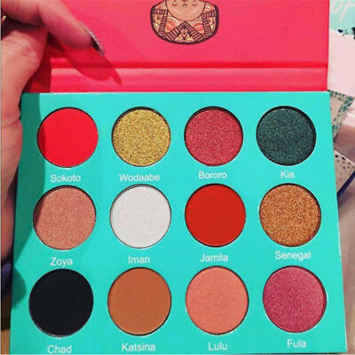12Colors Shimmer Eye Shadow Eyeshadow Palette Makeup Powder Cosmetic EyeShadow T