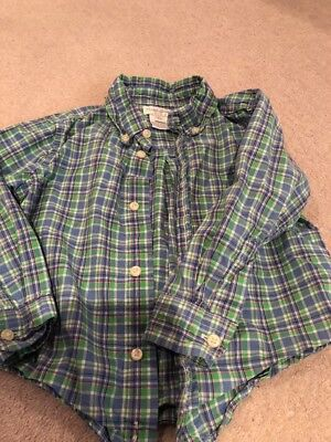 Boys Checked Shirt By Ralph Lauren Age 24 Months