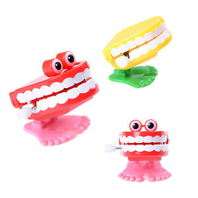 1X Dental Tooth Dentist Wind-up Gift Plastic Tooth Clockwork Toys JS