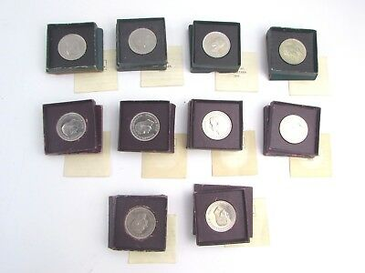 Collection of 10 x Vintage 1951 FESTIVAL OF BRITAIN Five Shillings Coins - BOXED
