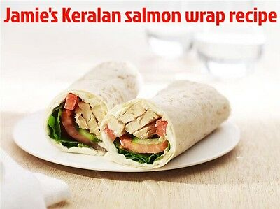 Exclusive  Jamie's Recipe For keralan Salmon Wrap('')'*