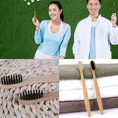 1PC Soft Adult Environmental Toothbrush Bamboo Oral Care Eco Dental