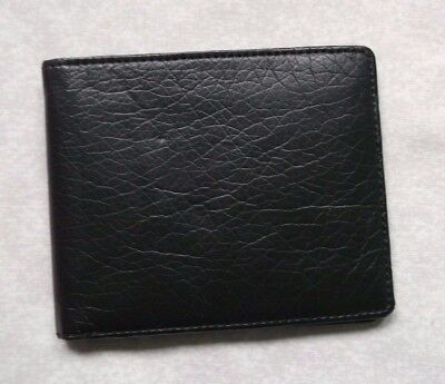 FAUX LEATHER VINTAGE CLASSIC MENS WALLET BI-FOLD CARDS NOTES ID BROWN 1990s PVC