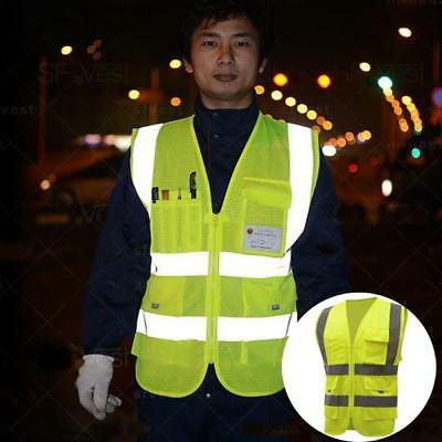 High Visibility Reflective Vest Motorcycle Cycling Outdoor Safety Clothing