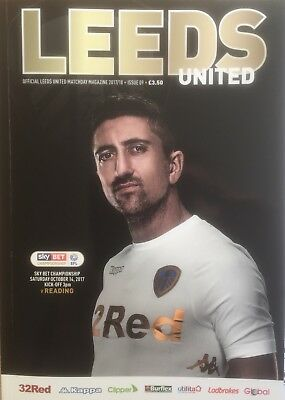 Leeds United V Reading. 14/10/2017. Programme. MINT CONDITION!