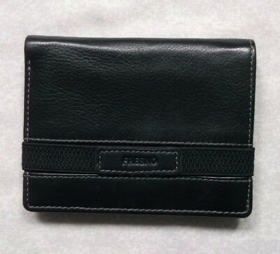 FRESNO VINTAGE LEATHER COMPACT WALLET BI-FOLD CARDS NOTES 1980s 1990s