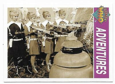 1995 Cornerstone DR WHO Base Card (123) Adventures