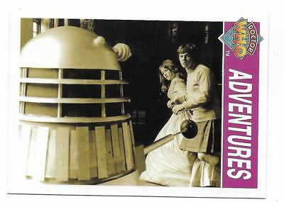 1995 Cornerstone DR WHO Base Card (129) Adventures
