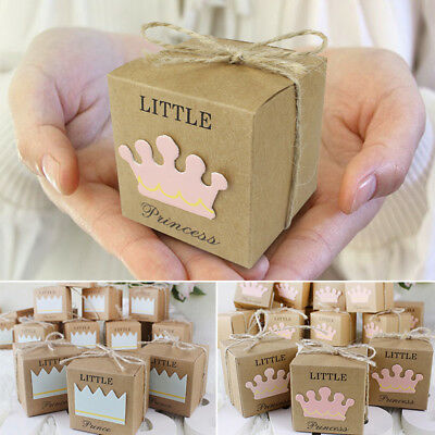 10Pcs Kraft Paper Candy Gift Boxes Wedding Birthday Baby Shower Favor