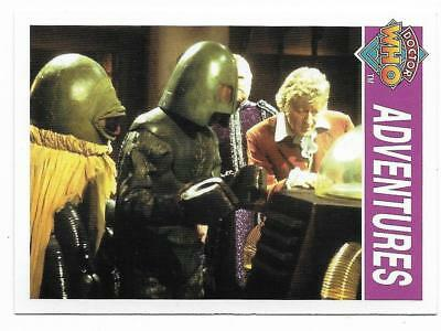 1995 Cornerstone DR WHO Base Card (140) Adventures