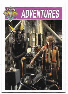1995 Cornerstone DR WHO Base Card (152) Adventures