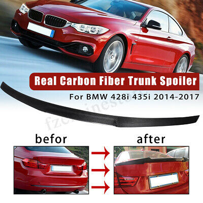 Carbon Fiber Rear Boot Trunk Spoiler For BMW 4 Series F32 Coupe M4 Style 14-17