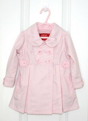 Baby Girl Size 00 #116 - Esprit Stunning Pink Double Breasted Trench coat