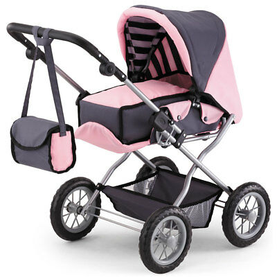 Bayer Combi Grande Doll Pram 75cm High Grey/Pink
