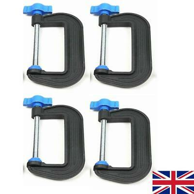 "4 X 3"" 75 Mm G Clamps British Made Precission Cramps Plastic With Metal Thread"