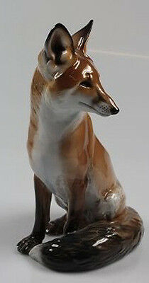 large fox figurine rosenthal figur porcelain  perfect extremly rare kärner 1940