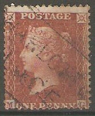 1857 Sg40 1d Red-Brown ( MG ) Perf.14 - Wmk. Large Crown ( Charlotte Place Pmk.)