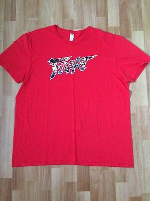 STREET FIGHTER V 5 FIGHT Men's Size XL T Shirt Red 100% Cotton Fruit Of The Loom