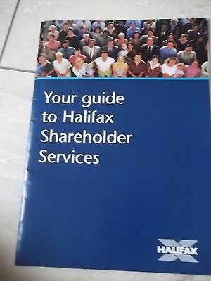 Halifax Guide To Shareholder Services.