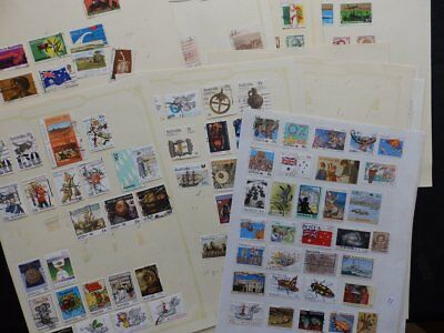 Australia Modern Used Stamp Collection On 14 Pages Over 240 Stamps
