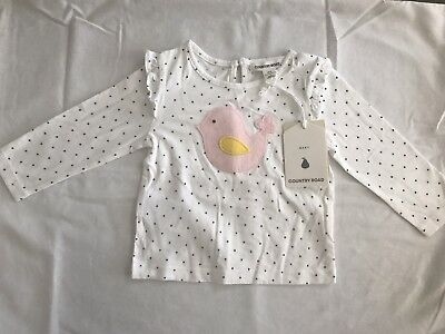 BNWT Country Road Bird T-Shirt Size 3-6 Months