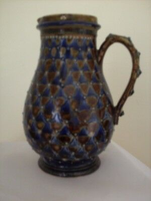 Doulton Lambeth: Early Blue And Brown Glazed Jug.