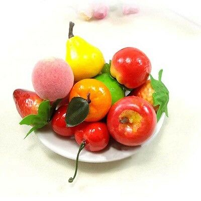 10 Mixed Realistic Artificial Plastic Fruit Kitchen Fake Display Home Food Decor